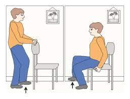 در جا زدن نشسته یا ایستاده